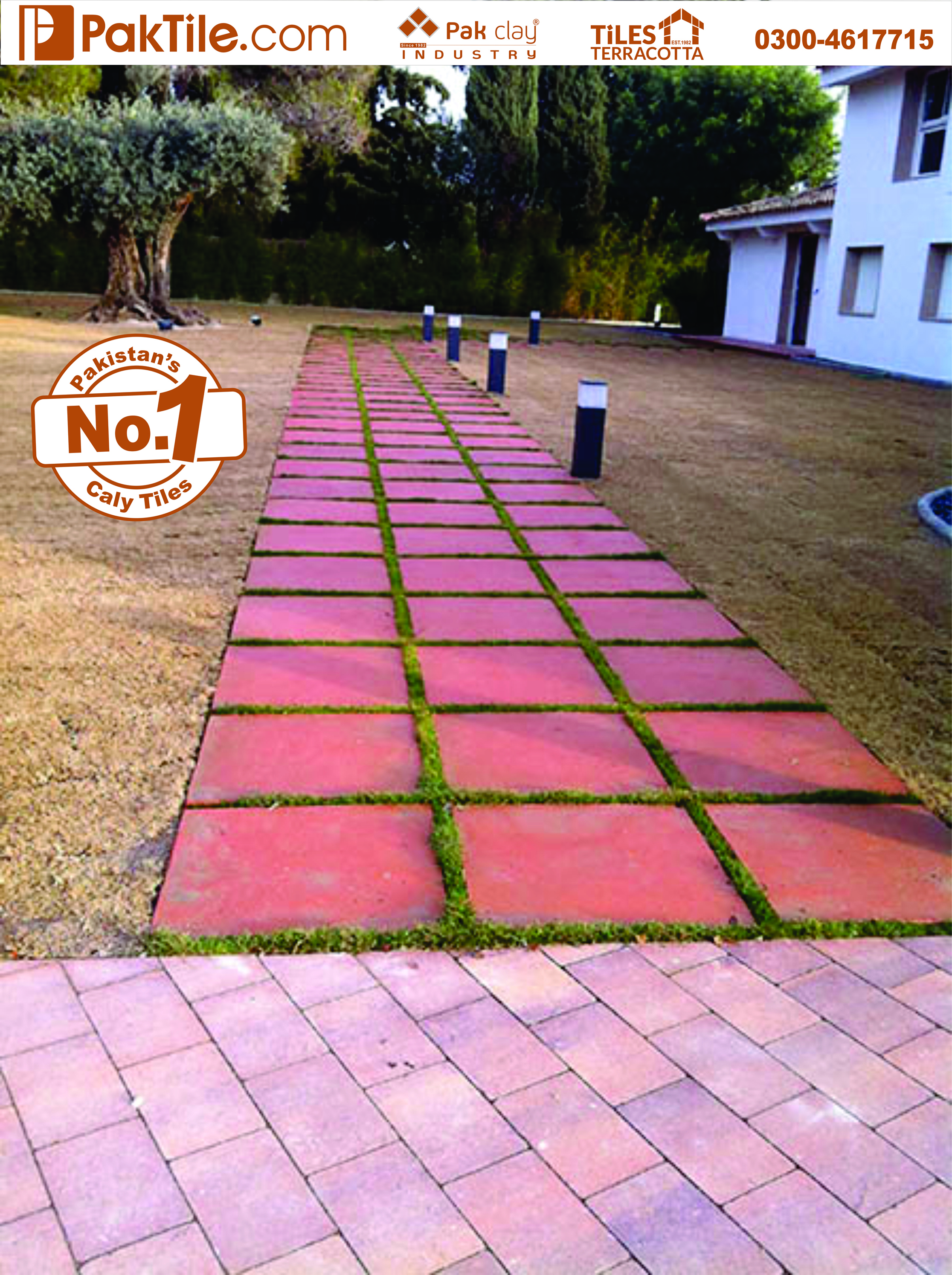 13 Pak Clay Tiles Home Sidewalk Terracotta Grass Pavers Floor Tiles in Pakistan Images.
