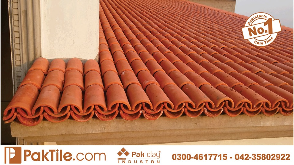 4 Khaprail Tiles in Lahore Unglazed Roof Tiles in Pakistan Images.