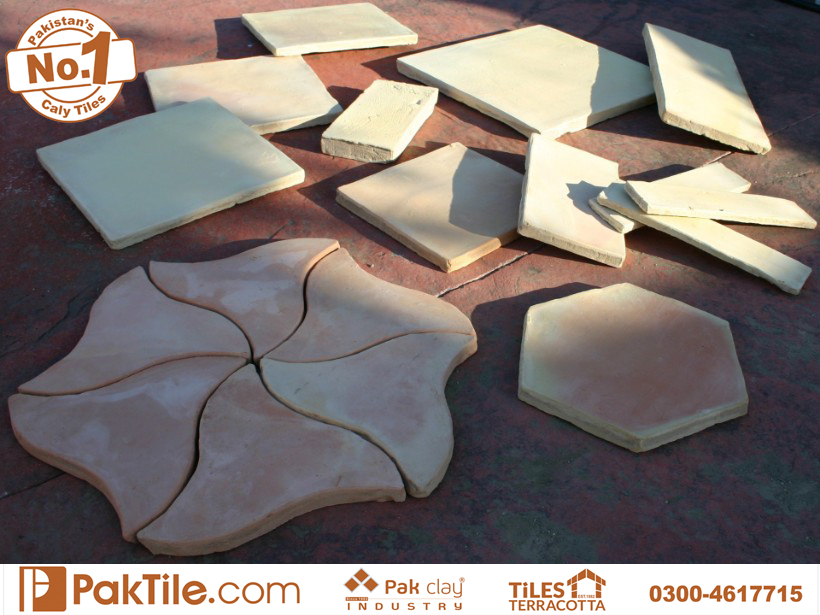 8 Pak Clay Tiles Peshawar Natural Red Terracotta Bricks Flooring Tiles in Pakistan Images.