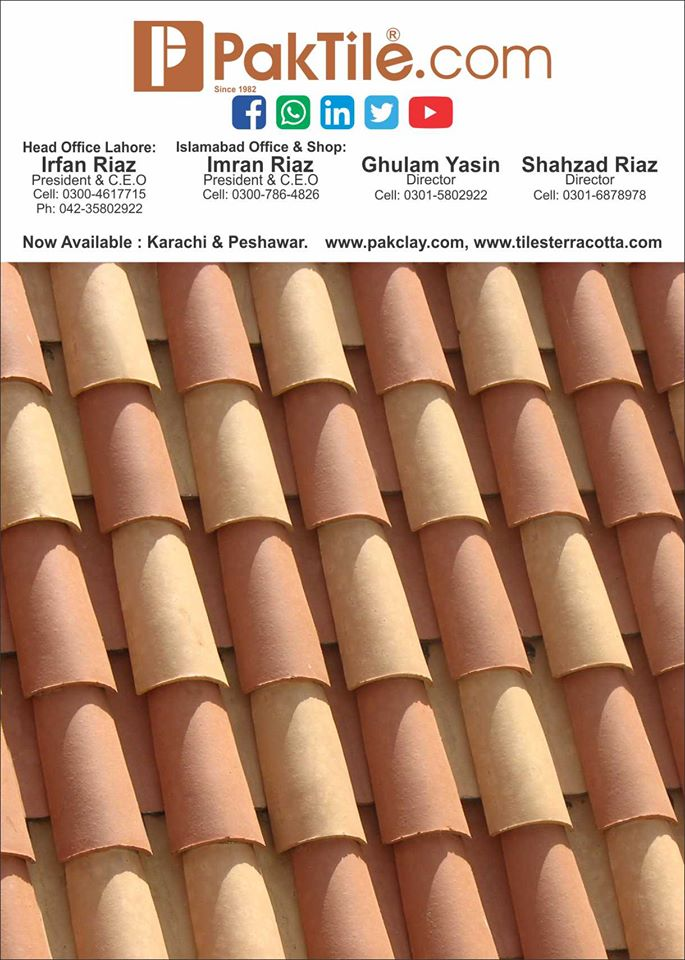 Finest Quality Clay Roof Tiles in Pakistan