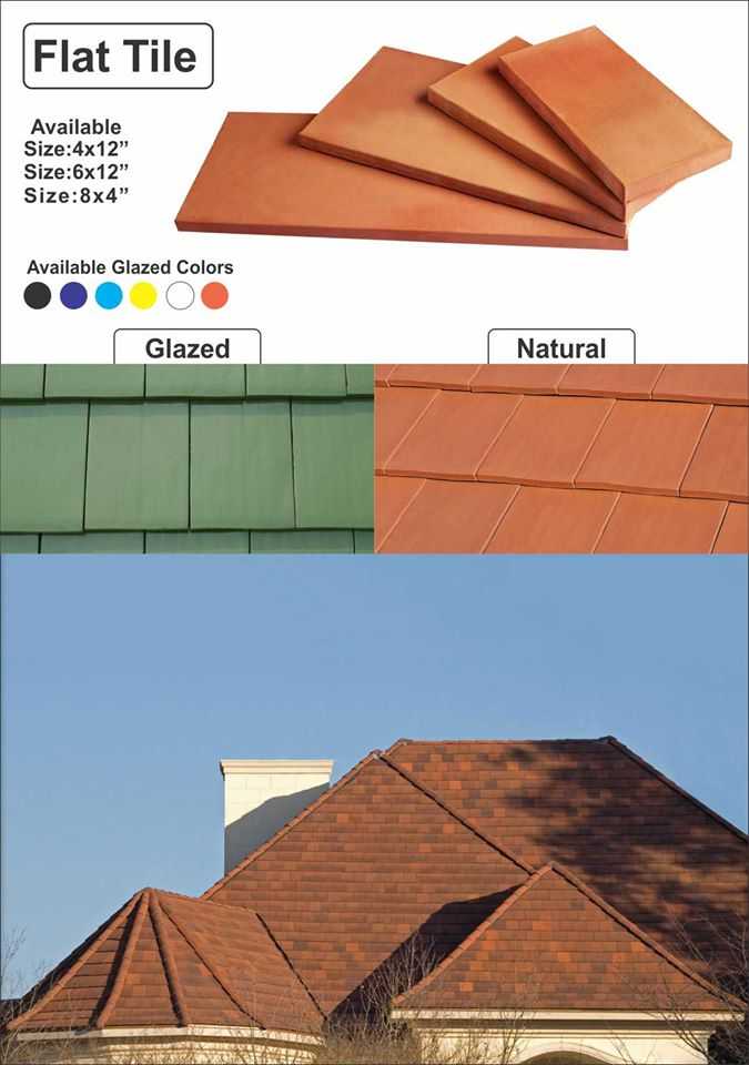 Pak Clay Flat Roof Tiles in Pakistan