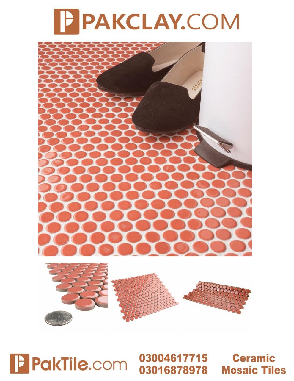 Red Colors Porcelain Mosaic Floor Tiles