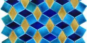 Pak Clay Sky Cobalt Blue and Yellow Mosaic Tiles in Lahore Images