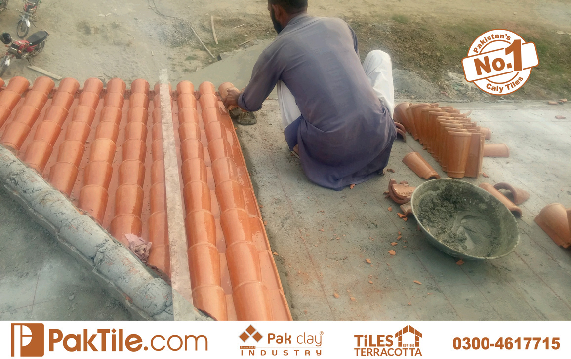 12 Pak Clay Tiles How to Lay Clay Roof Tiles Khaprail in English Images.