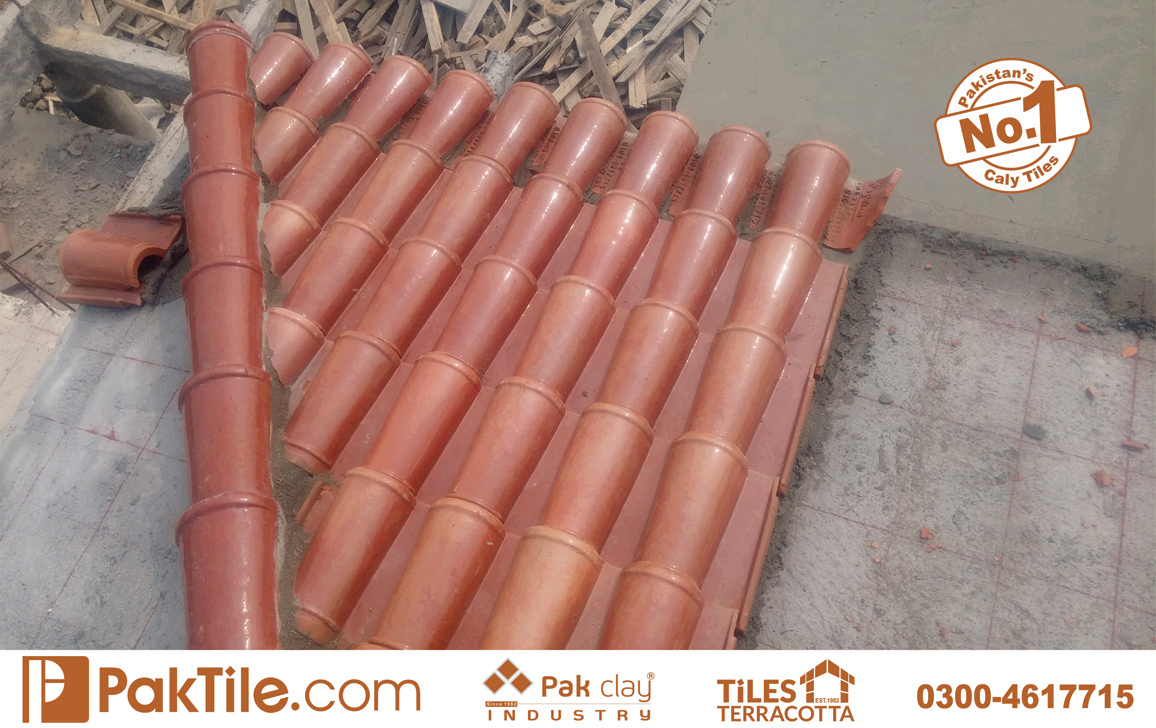 13 Pak Clay Tiles How to Install Clay Ridge Tiles Khaprail Tiles in English Images.
