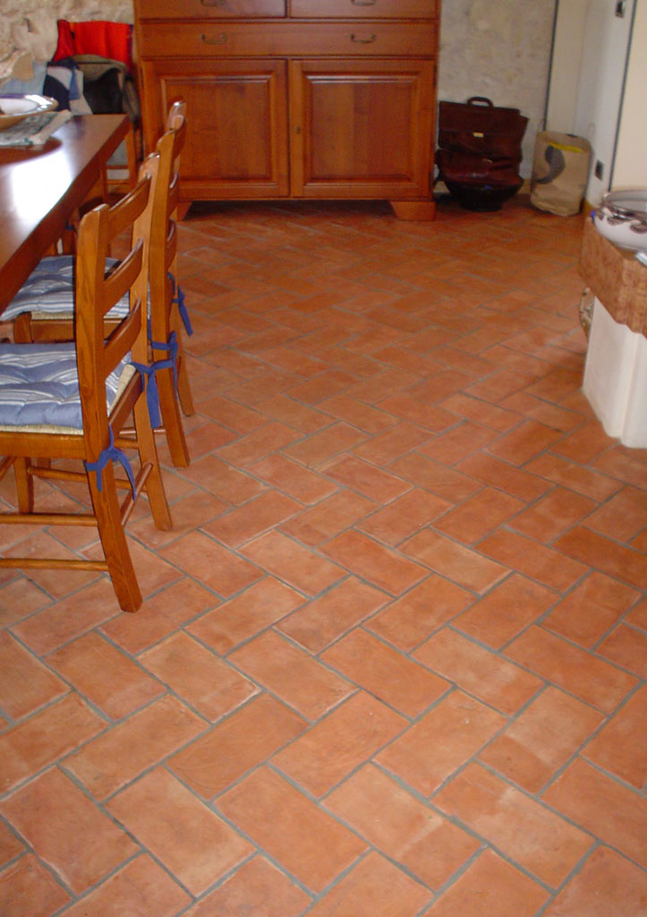 5 Dining Room Floor Tiles in Pakistan Rectangular Shape Terracotta Flooring Tiles.