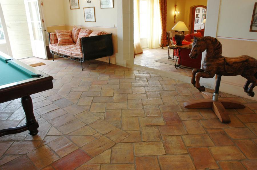 6 Hand Made Bricks Tiles in Pakistan Billiard Room Flooring Tiles in Lahore Images.