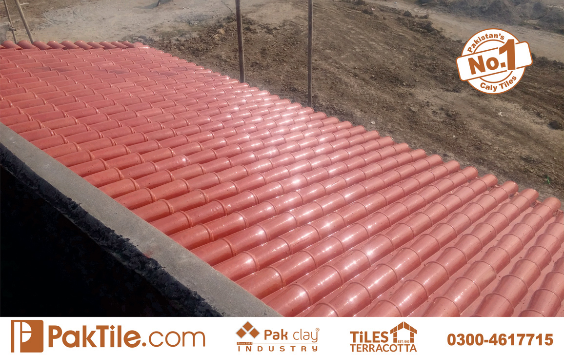 6 Pak Clay Glazed Ceramic Roof Tiles Khaprail Tiles in Pakistan Images.