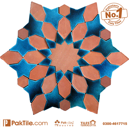 Pak Clay Blue Terracotta Glazed Mosaic Tiles Texture in Karachi Images (4)