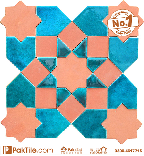 Pak Clay Pink and Sky Blue Colors Mosaic Tiles Texture in Karachi (1)