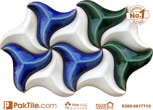 Pak Clay White Green White Colours Mosaic Tiles Texture in Karachi (3)