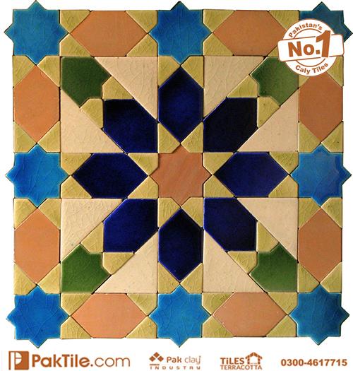 Pak Clay Yellow Cream Glazed Ceramic Mosaic Tiles Texture in Karachi Images (5)