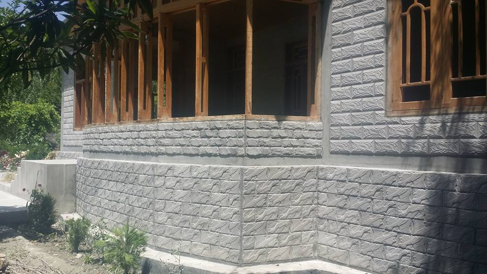 Chakwal Stone Grey Front Wall Tiles Design