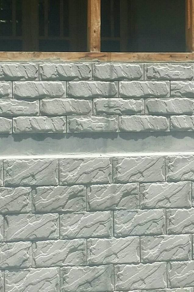 Chakwal Stone Grey Home Front Wall Facing Tiles Pattern