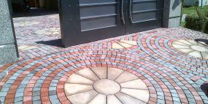 House Main Gate Ramp Tiles Design Images in Pakistan