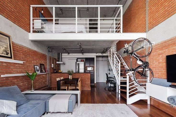 Interior modern house natural brick wall tiles texture design home