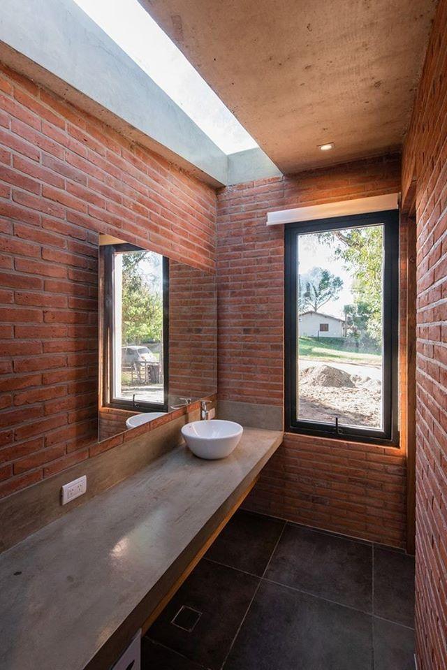 Pak Clay Tiles Karachi exposed brick wall bathroom tiles images