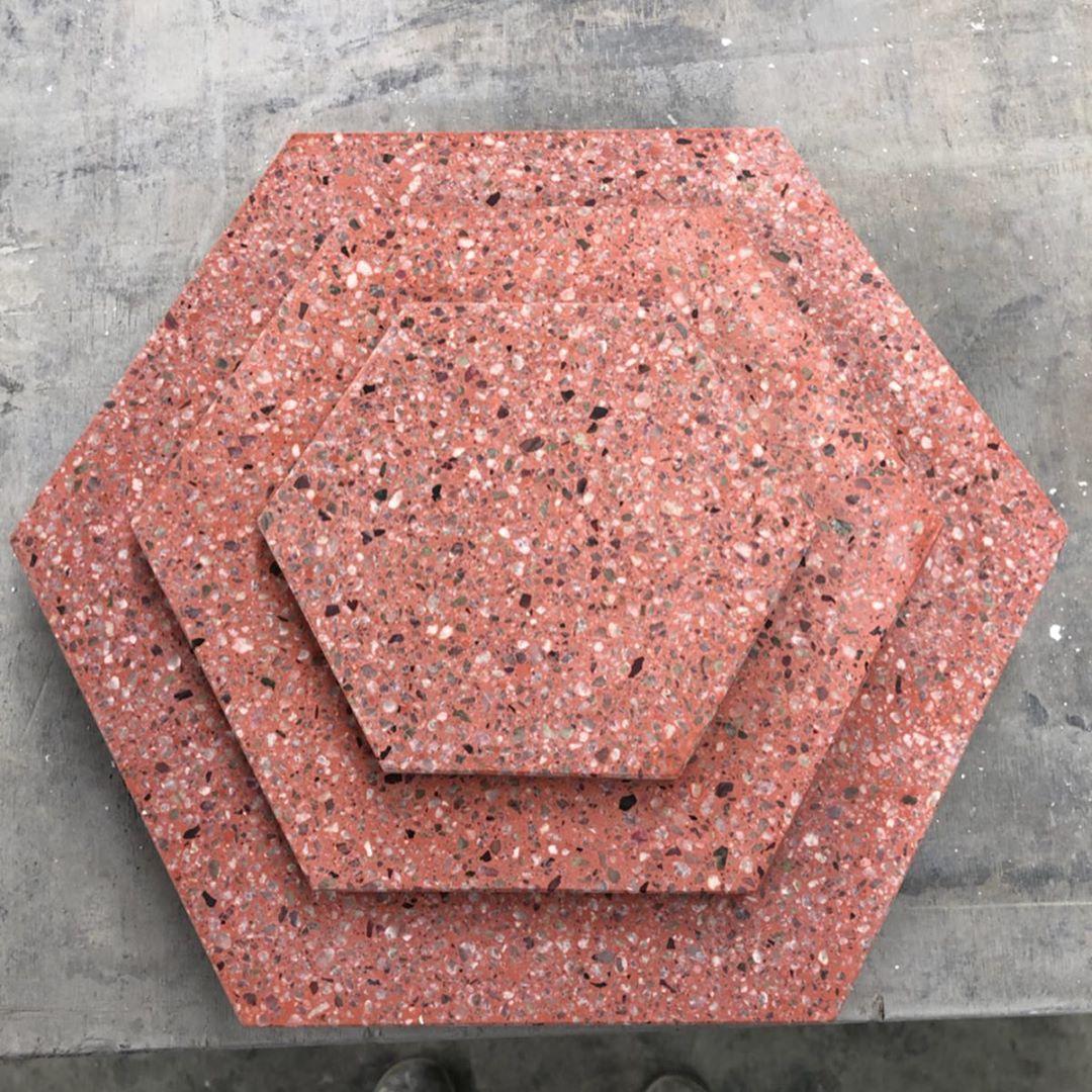 Pak clay terrazzo flooring tiles installation in lahore