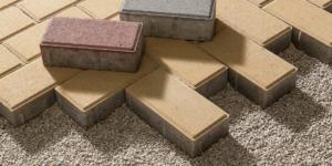 Concrete Pavers Courtyard Floor Tiles Design
