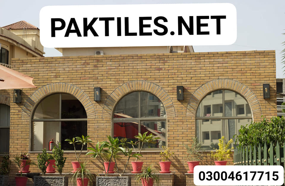 Pak Tiles Yellow Brick Outdoor Wall Tiles Design Images in Karachi
