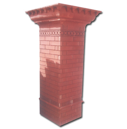 Red Gutka Wall Brick Tiles in Pakistan Images