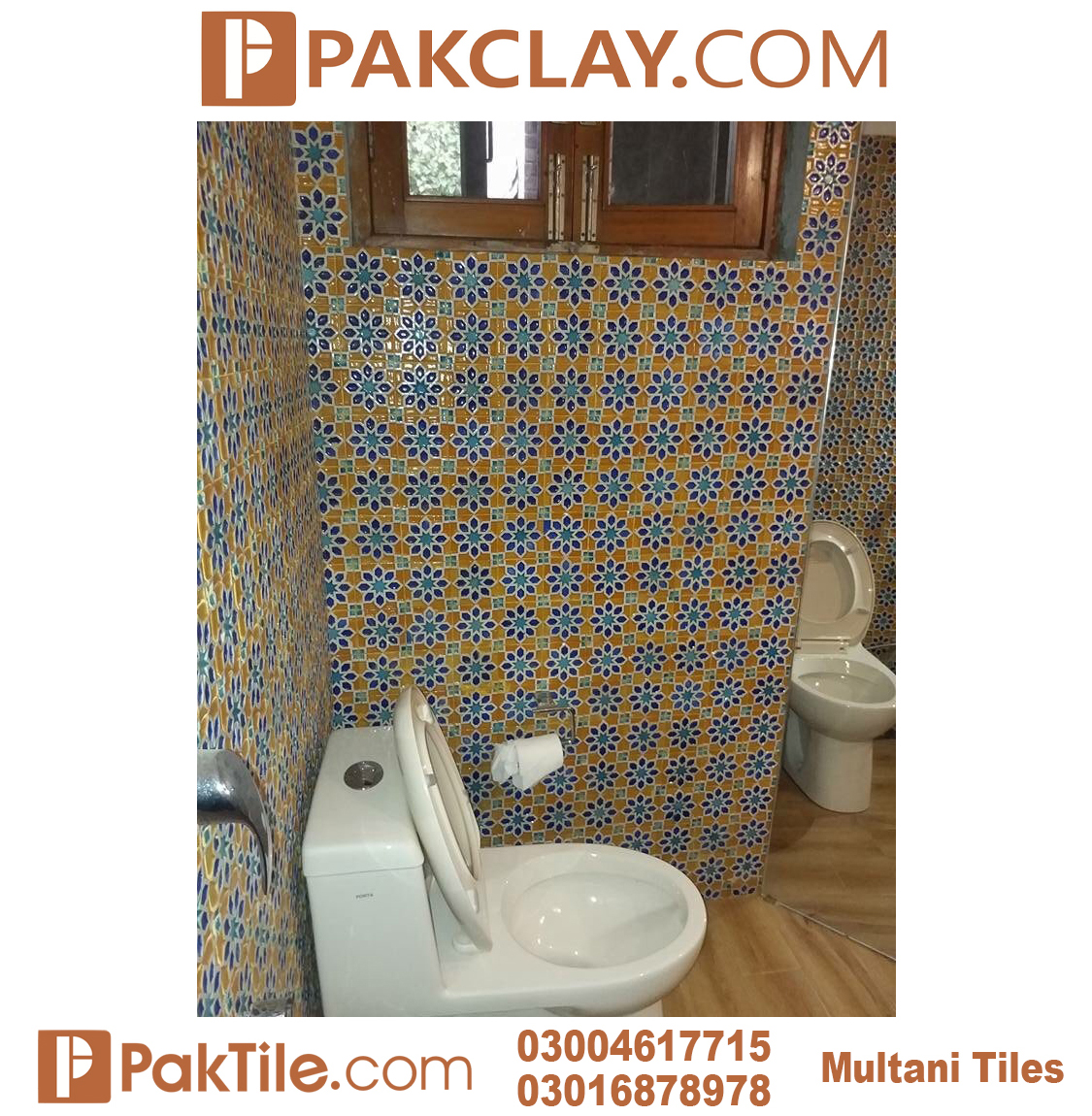 Pak Clay Blue Multani Tiles Peshawar For Bathroom Walls