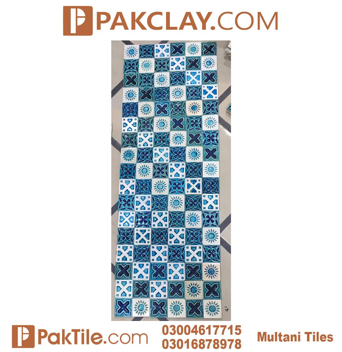 Pak Clay Blue Multani Tiles Design in Lahore