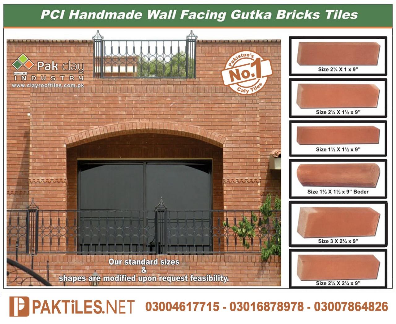 Gutka Tiles in Lahore Red Bricks Price in Pakistan Red Gutka Tile Size