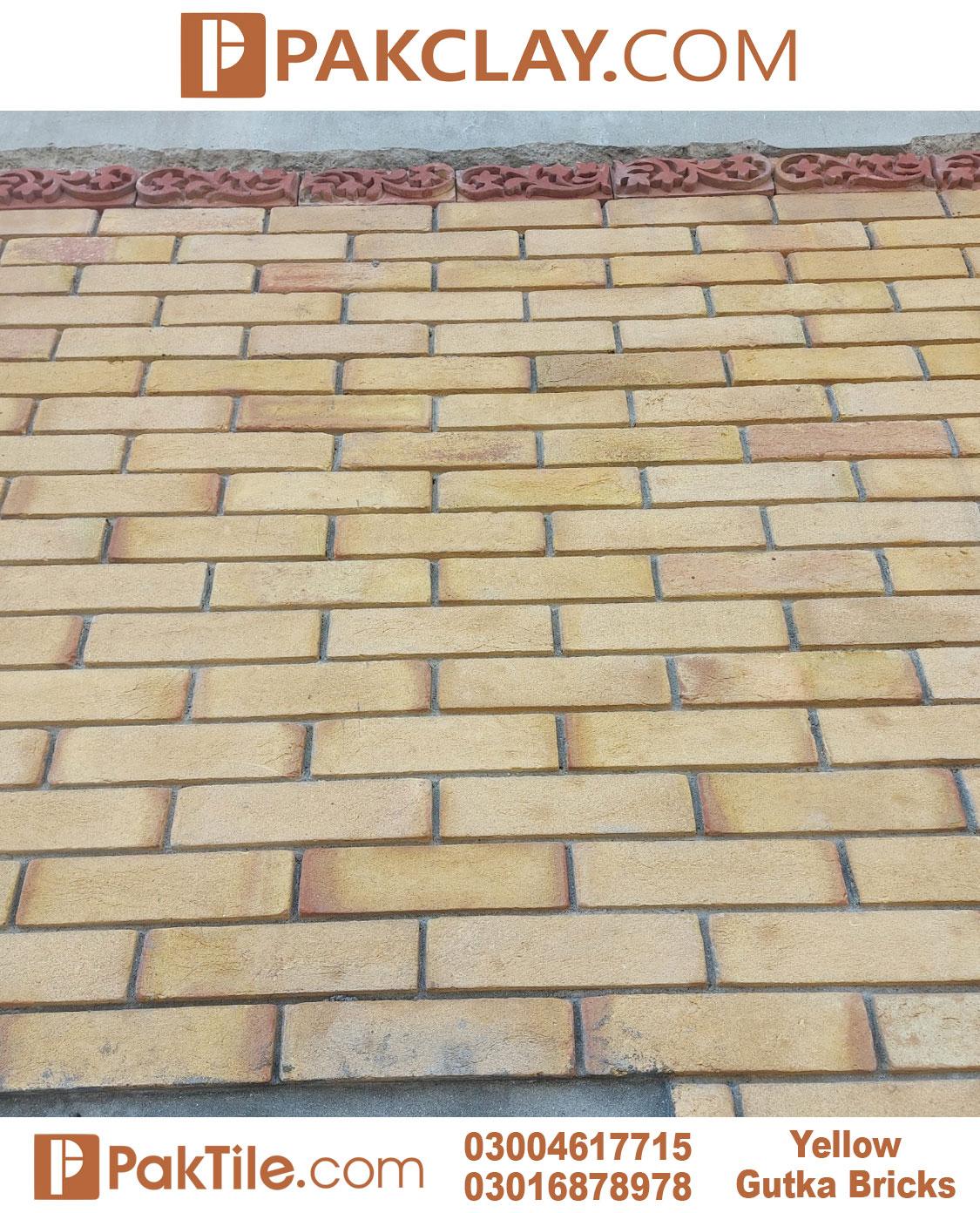 Yellow Gutka Tile Texture
