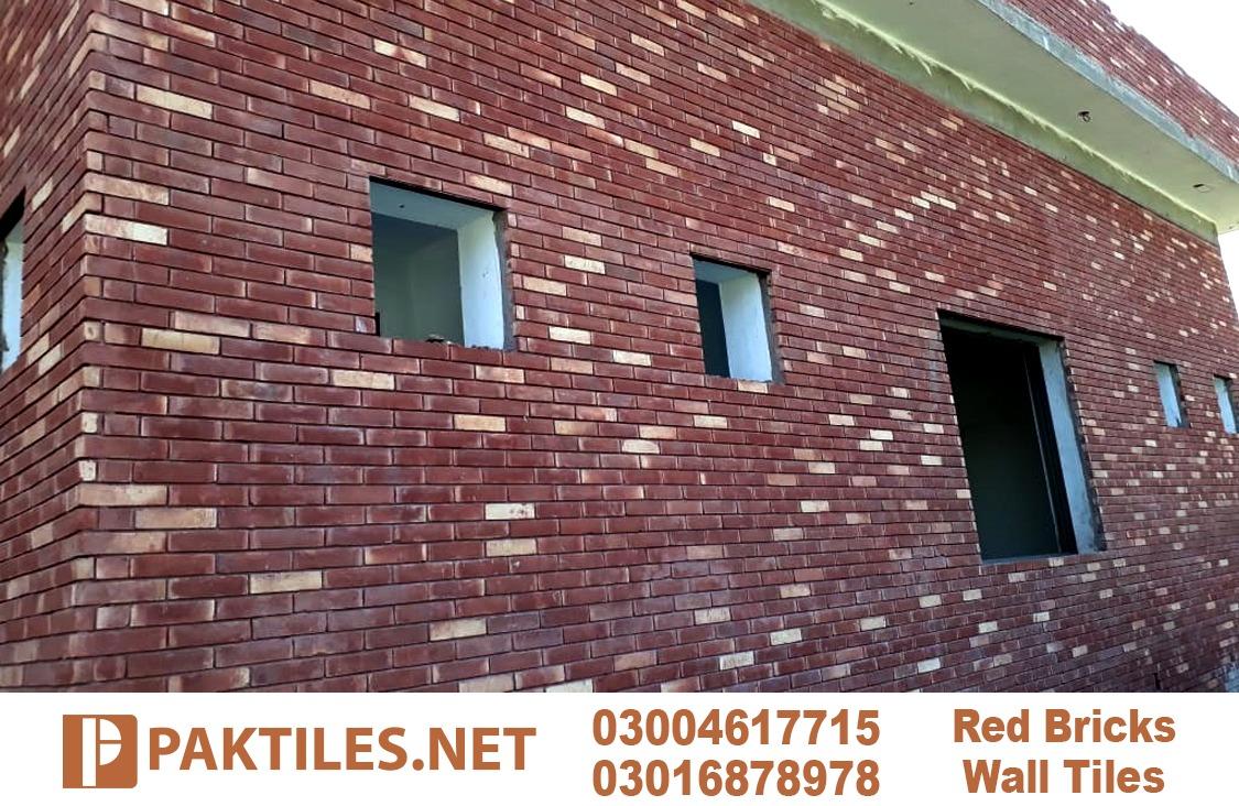 Red Clay Wall Gutka Face Bricks Lahore Pakistan