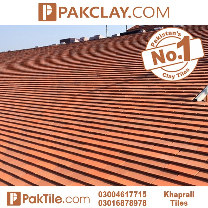 Red roof tiles khaprail house design