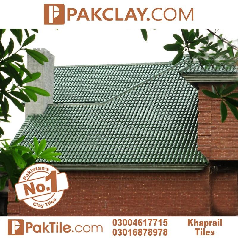 Green colours glazed khaprail tiles in Rawalpindi