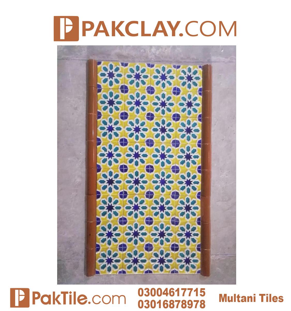 Pak Clay Blue Multani Tiles and Naqashi Islamabad Front Face Tiles