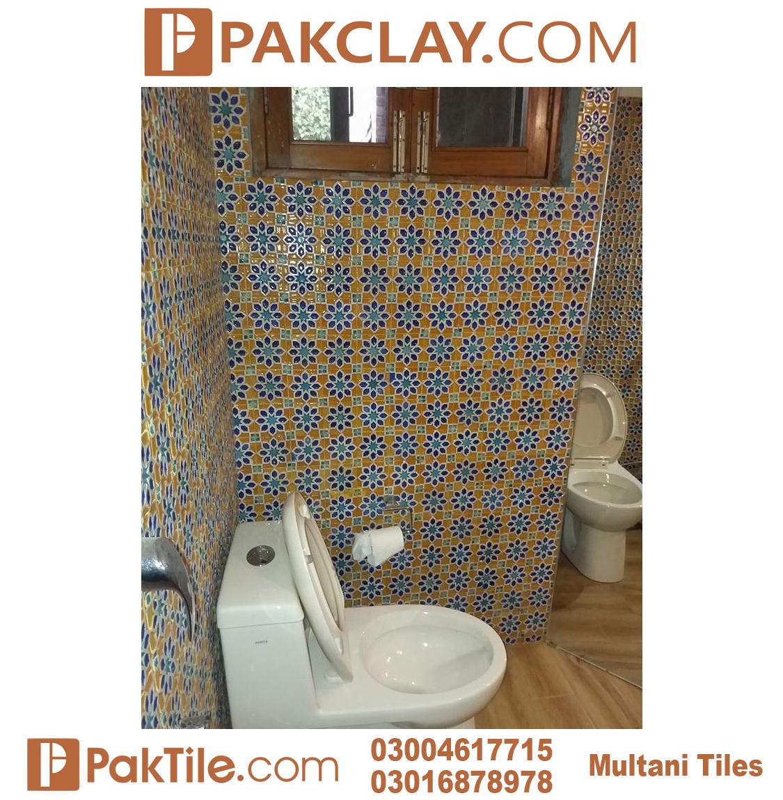 Pak Clay Blue Multani Tiles and Naqashi Peshawar For Bathroom Walls