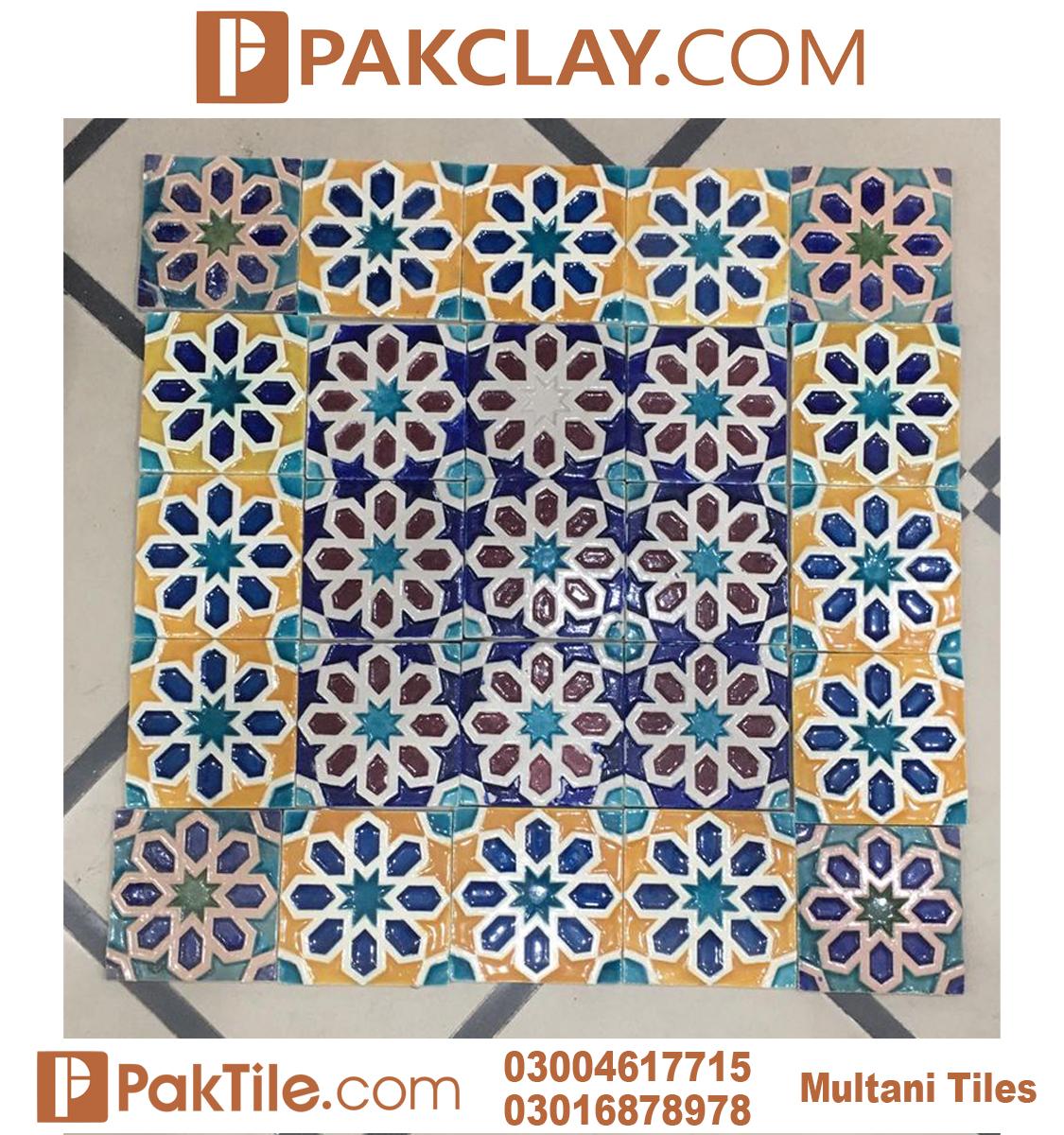 Pak clay multicolors multani tiles design islamabad