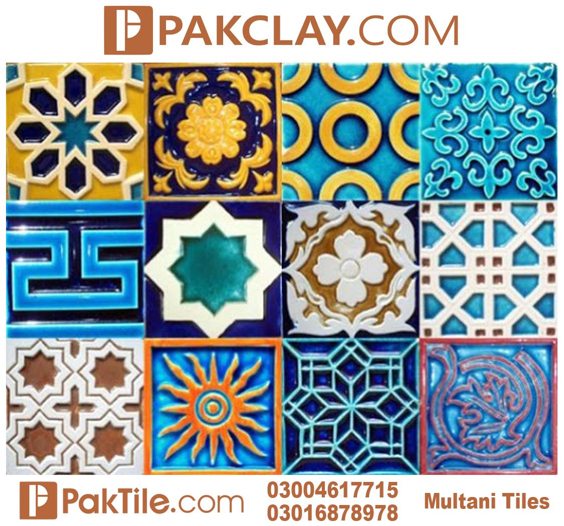 Blue Pak Clay Porcelain Wall Multani Tiles