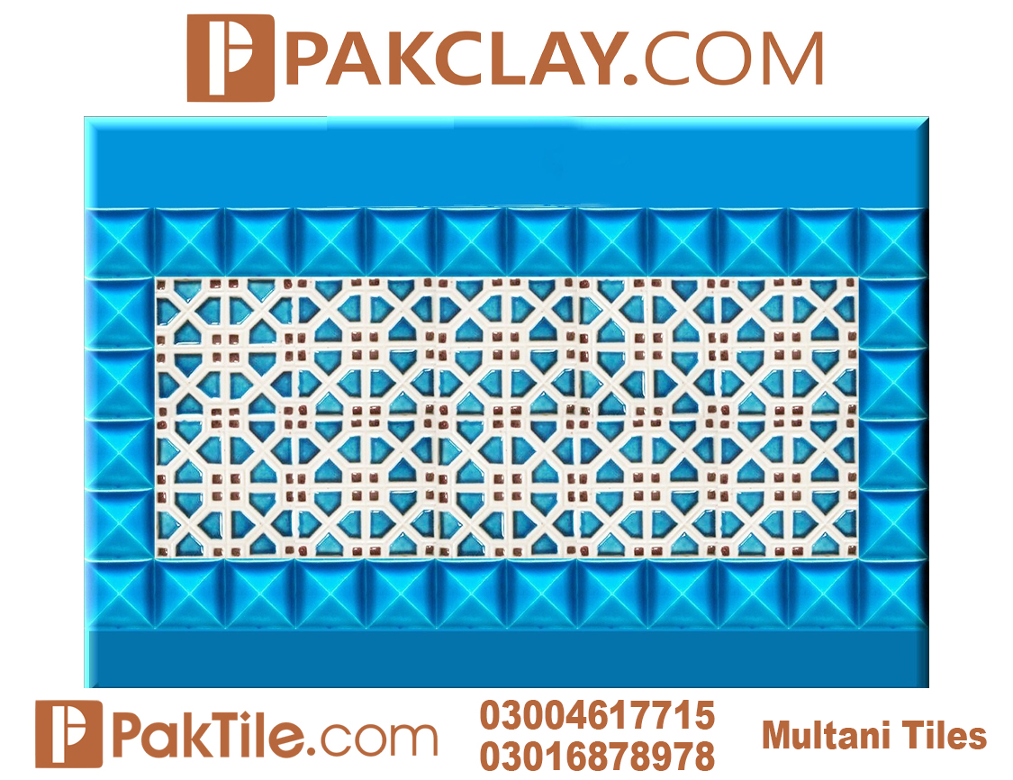 Blue Pak Clay Outdoor Wall Multani Tiles Price