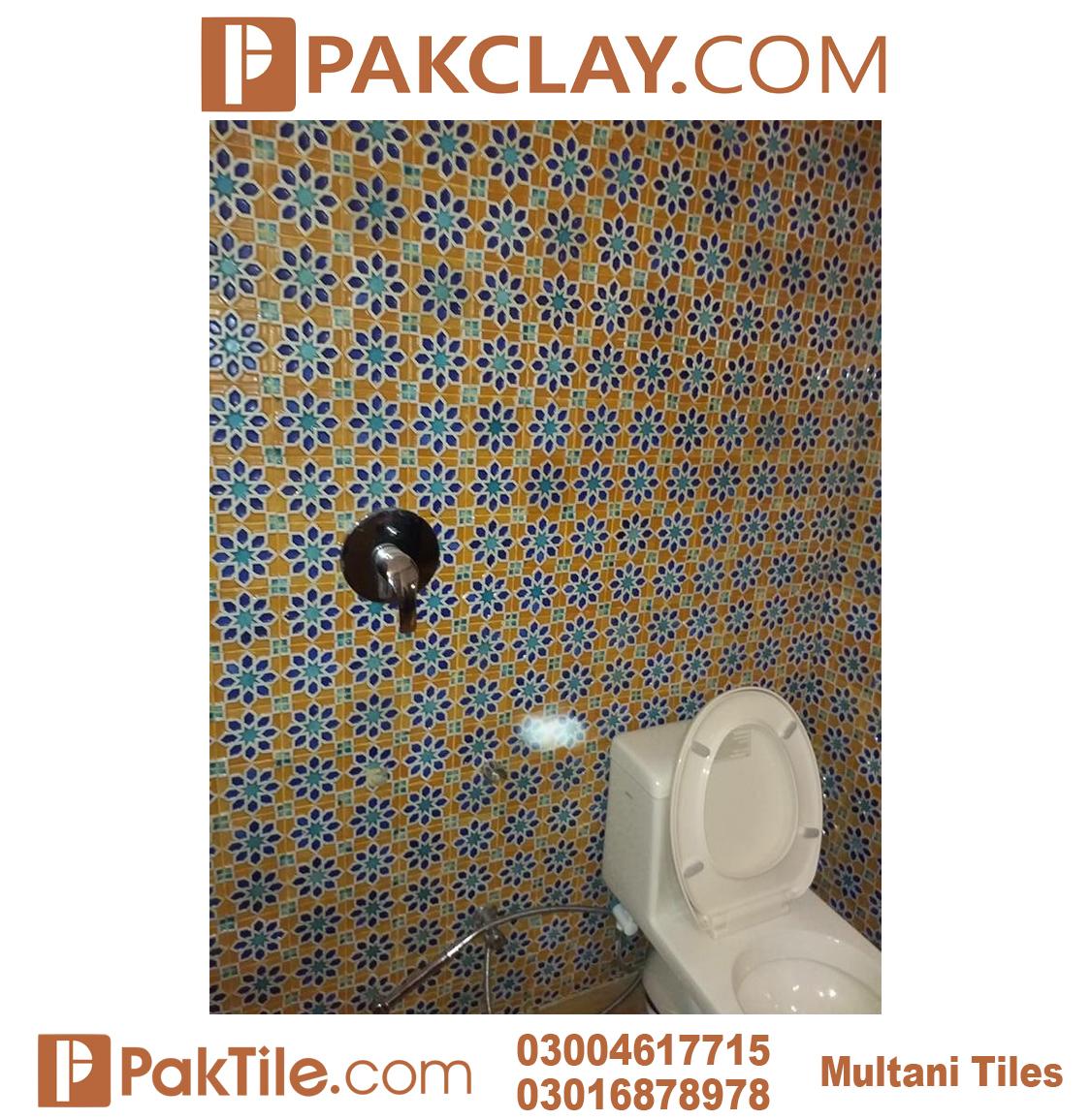 Blue Pak Clay Bathroom Wall Multani Tiles and Naqashi