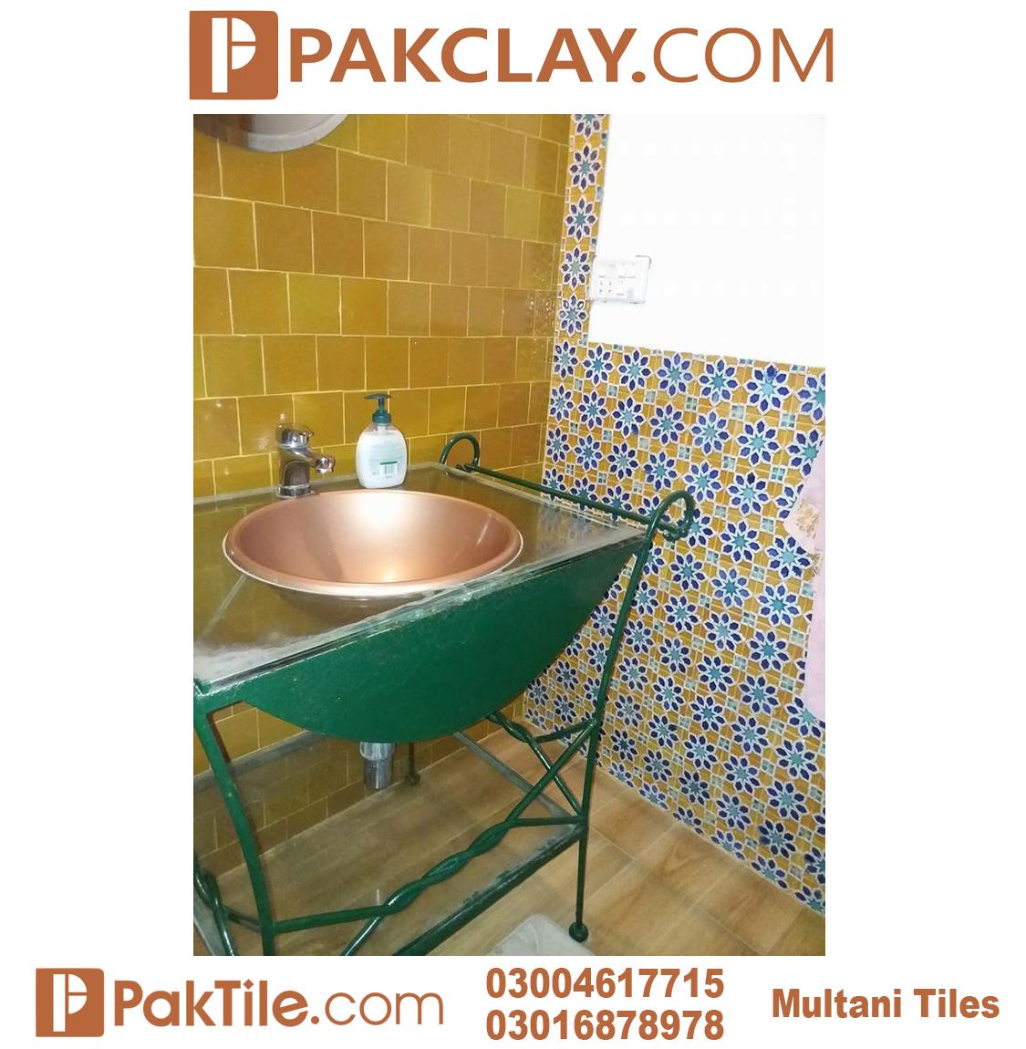 Best Washroom Blue Multani Tiles For Walls