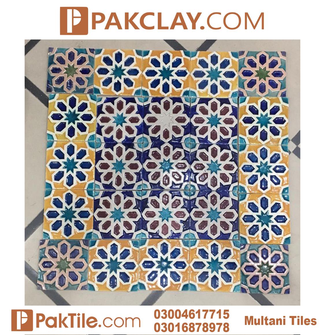 Latest Design Front Elevation Yellow Multani Tiles Rates