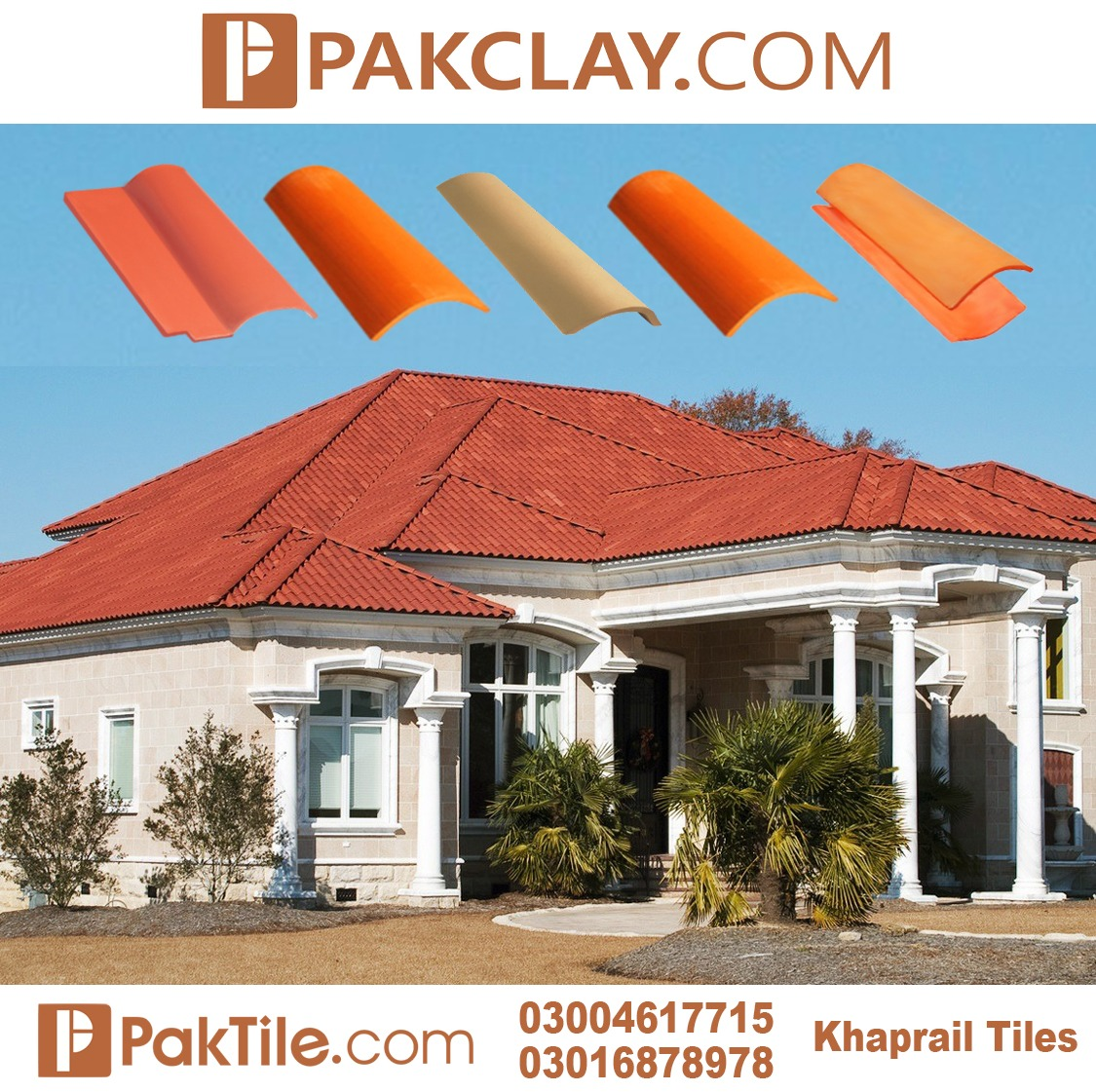 Pak Clay Roof Khaprail Tiles Company in Islamabad
